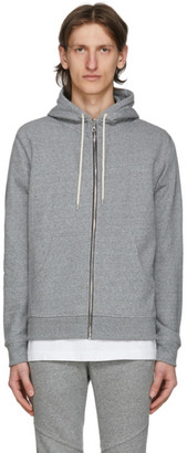 John Elliott Grey Flash 2 Full Zip Hoodie