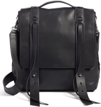 AllSaints Fin Leather Backpack