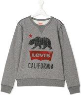 Levi's Kids - bear print sweatshirt - kids - Cotton/Polyester - 14 yrs