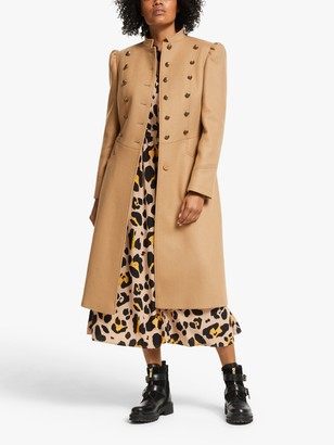 Somerset by Alice Temperley Military Coat, Brown