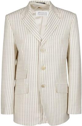 Maison Margiela White Wool Blazer