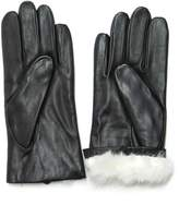 Fownes Women's Rabbit Fur Lined Napa Leather Gloves 7.5/L