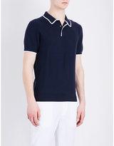 Michael Kors Contrast Trim Cotton-piqué Polo Shirt