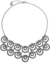 Liz Claiborne Drama Bib Necklace Gray Hematite