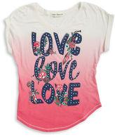 Sugar And Diamonds Girls 7-16 Love Graphic Jersey Knit T-Shirt