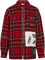 Palm Angels Tartan Logo-print Wool-blend Jacket