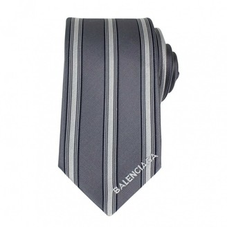Balenciaga Grey Silk Ties