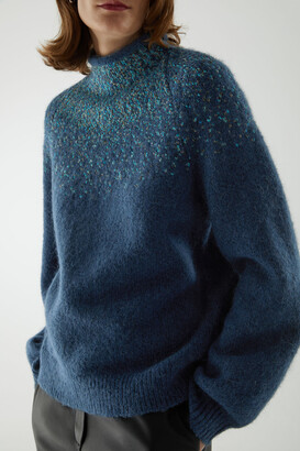 Cos Wool-Mix Fair Isle Knit Jumper