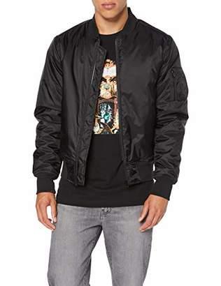 Build Your Brand Men's Bomber Jacket,Medium