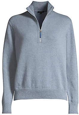 Lafayette 148 New York Women's Stand Collar Cashmere Sweater
