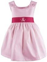 The Well Appointed House Girl's Pique Dress in Pink with Hot Pink Sash-Can Be Personalized