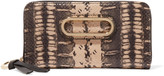 See by Chloe Paige glossed-snake and textured-leather wallet