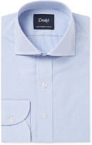 Drakes Drake's Blue Slim-Fit Bengal-Striped Cotton Shirt