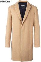 MSGM mid-length concealed fastening coat - men - Cotton/Polyamide/Polyester/Virgin Wool - 50