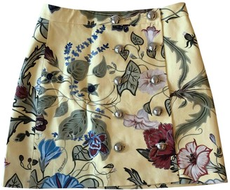 Gucci Yellow Cotton Skirt for Women