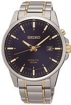 Seiko Ska737p1 Kinetic Date Two Tone Bracelet Strap Watch, Silver/gold