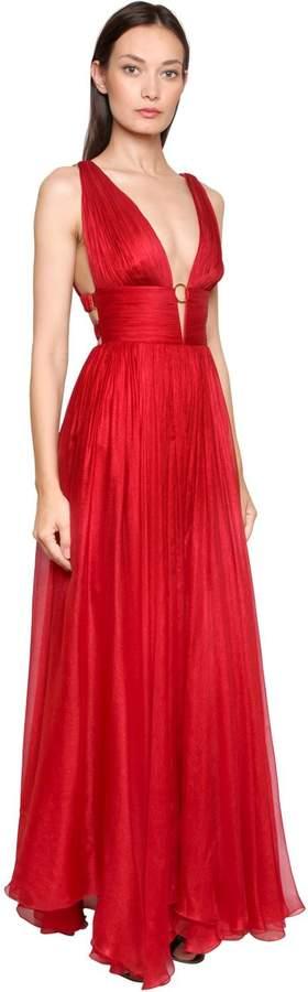 Maria Lucia Hohan Metallic Silk Mousseline Gown