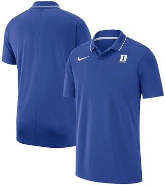 Nike Men's Royal Duke Blue Devils Team Logo Basketball Polo