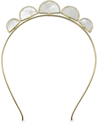 Ippolita Polished Rock Candy 18K Yellow Gold, Mother-Of-Pearl & Diamond Crown