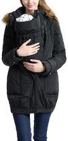Black Arlo Down Maternity Convertible Coat