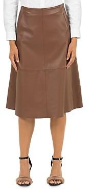 Peserico Leather Midi Skirt
