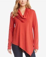 Karen Kane Asymmetrical Cowl-Neck Sweater