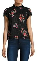 Rebecca Taylor Floral Lace Embellishments Top