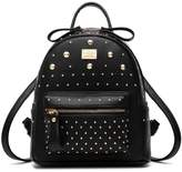 Santwo Women's Mini Rivets Waterproof PU Leather Shoulder Bag Casual Daypack Backpack