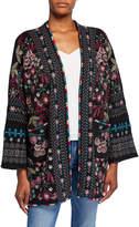 Johnny Was Plus Size Aya Embroidered Knit Kimono