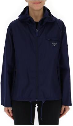 Prada Logo Hooded Jacket