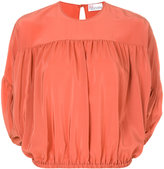 RED Valentino cropped gathered blouse