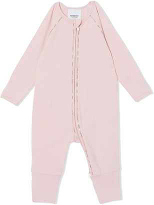BURBERRY KIDS Check Detail Stretch Cotton Three-piece Baby Gift Set