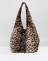Asos Soft Slouch Shopper Bag With Tie