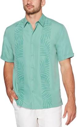 Cubavera Men's Tropical Leaf Panel Shirt