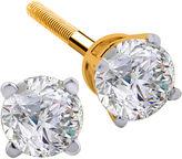 JCPenney FINE JEWELRY 1/4 CT. T.W. Diamond 14K Yellow Round Stud Earrings