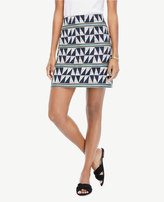 Ann Taylor Triangle Stripe Jacquard Skirt