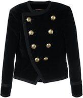 Saint Laurent Spencer cropped velvet blazer
