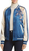 Cotton Candy Embroidered Bomber Jacket