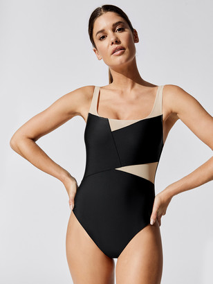Carbon38 Blocked Mesh Bodysuit