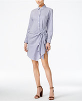 Bar III Striped Knotted Shirtdress, Only at Macy's