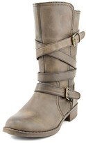 Report Jesslyn Women Round Toe Synthetic Brown Mid Calf Boot.
