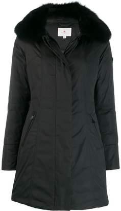 Peuterey fox fur trim coat