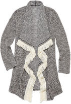 Arizona Long-Sleeve Fringe Cardigan Duster - Girls 7-16