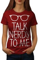 Talk Nerdy To Me Geek Glasses Women L T-shirt | Wellcoda