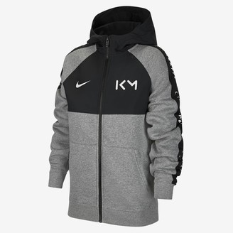 Nike Big Kids' Full-Zip Fleece Soccer Hoodie Kylian Mbappe
