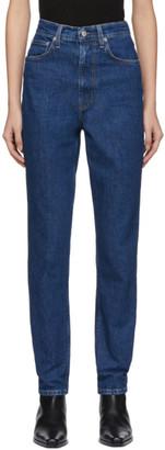 Helmut Lang Blue Denim Femme Hi Spikes Jeans