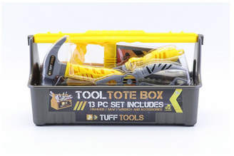 Tuff Tools Pretend Play 13 Piece Toy Tool Tote Box