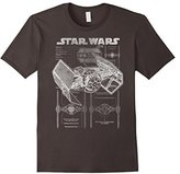 Star Wars TIE Fighter Blueprint Graphic T-Shirt