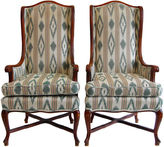 One Kings Lane Vintage High-Back Wing Chairs, Pair