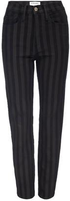 Frame Sylvie Tonal Striped Slim Straight Leg Jeans